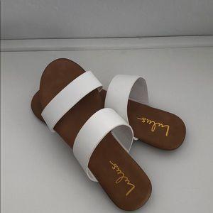 Lulus White slide sandals